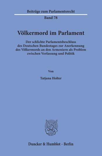 Völkermord im Parlament - Tatjana Holter